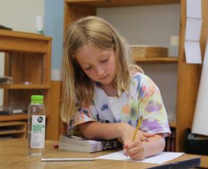 young Montessori thinker