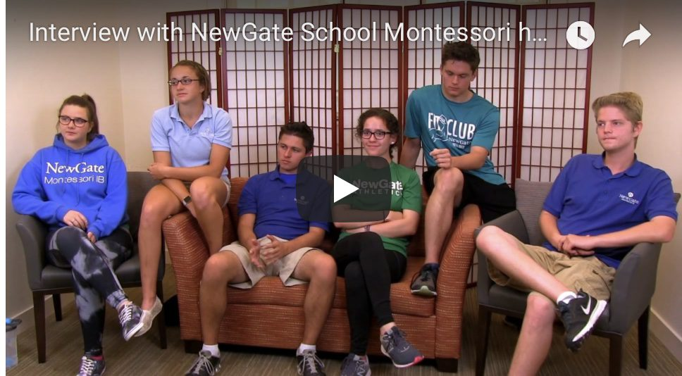 Video Interview with NewGate School Montessori high school seniors May 2017 Lorna McGrath