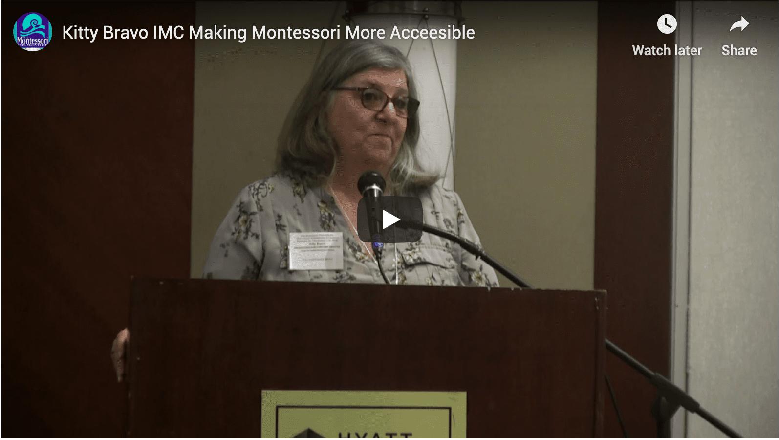 The IMC – Making Montessori More Accessible