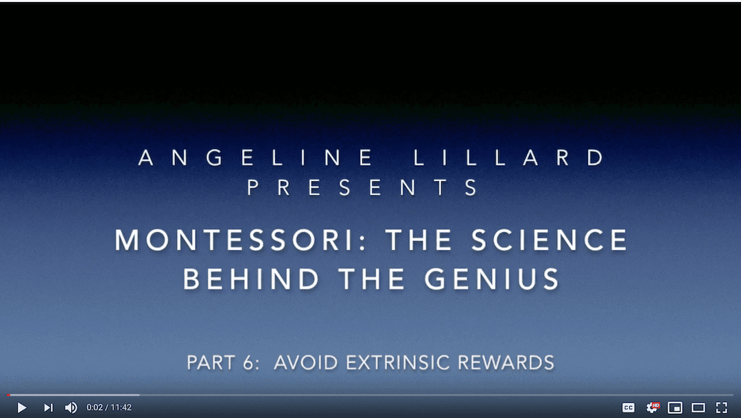 Montessori: The Science — Part 6: Avoid Extrinsic Rewards