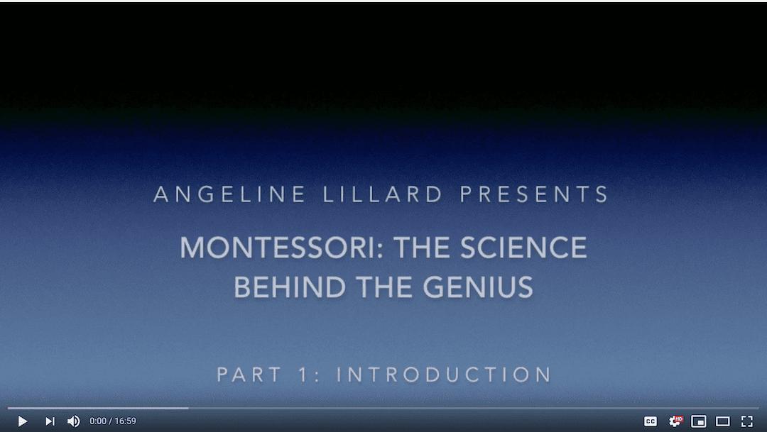 Video: Montessori – The Science — Part 1: Introduction to Montessori Education