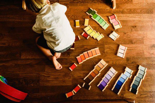 color tiles montessori at home