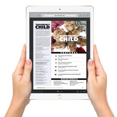 Tomorrow's Child Magazine on an iPad