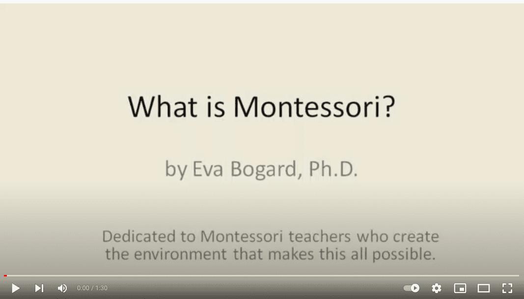 That's What Montessori Is In 60 Seconds – E.Bogard